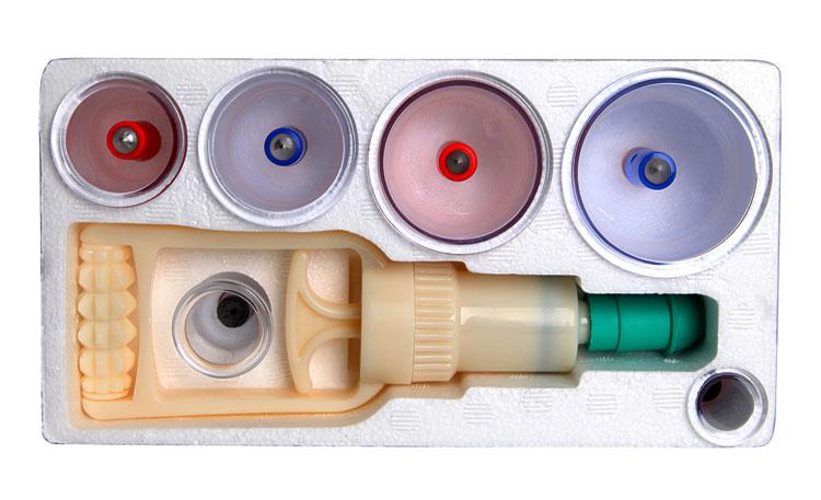 Пластиковые банки с массжаным аппаратом