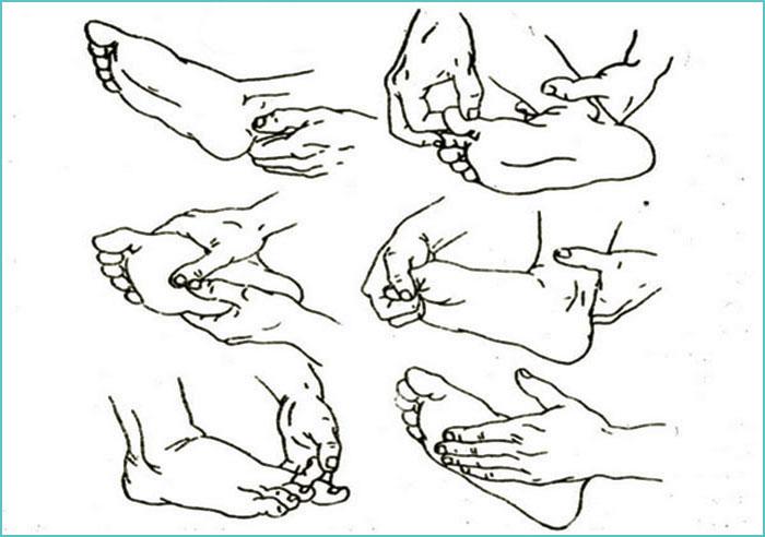 Техника проведения массажа ступней