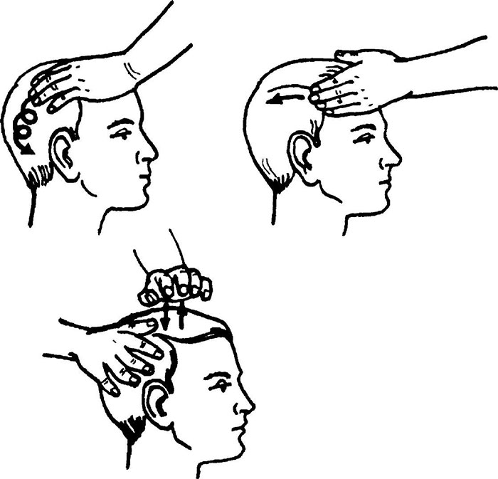 Классический метод массажа головы