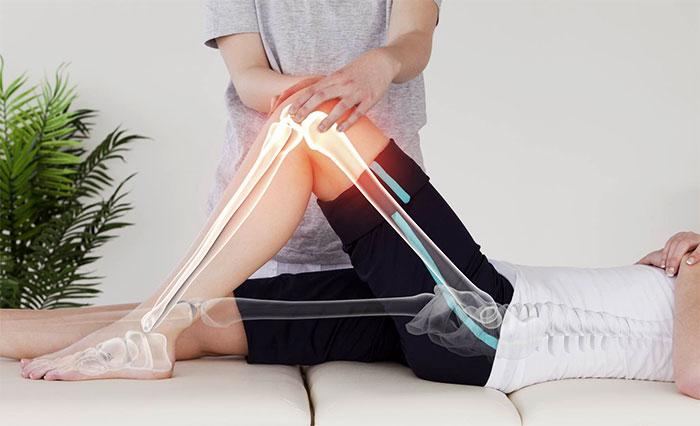 Лечебный массаж коленного сустава