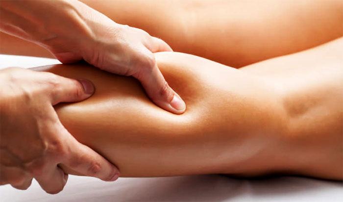 Разминание мышц голени