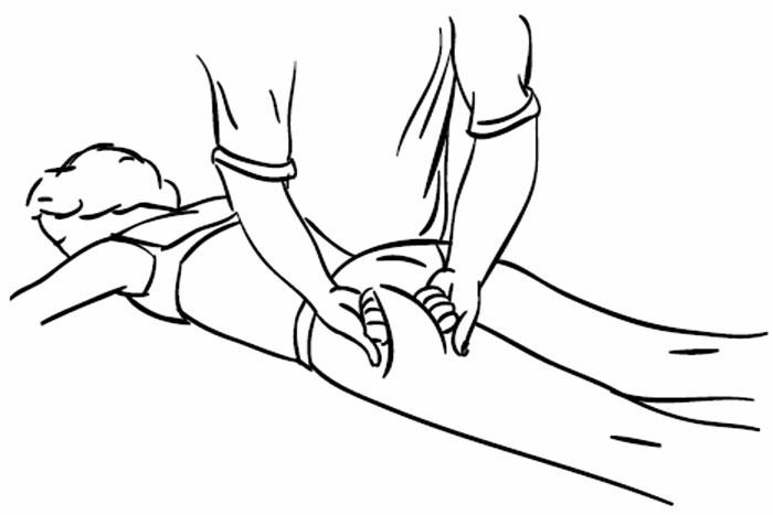Прием массаж - разминание