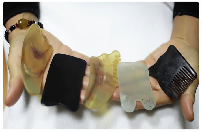 Скребки из нефрита для массажа гуаша