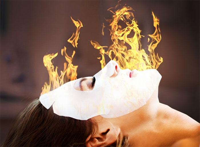 Массаж для лица при помощи пламени