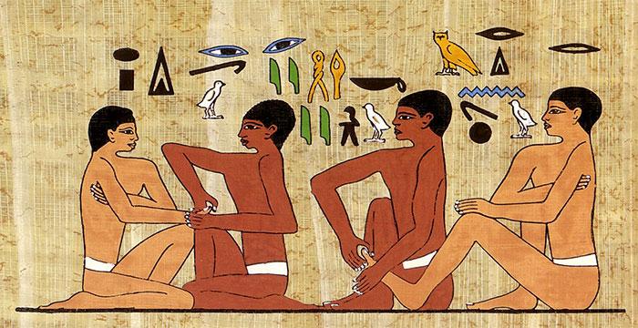 Массаж в древнем Египте