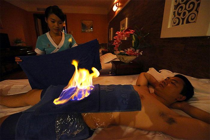 Огненный массаж для мужчин