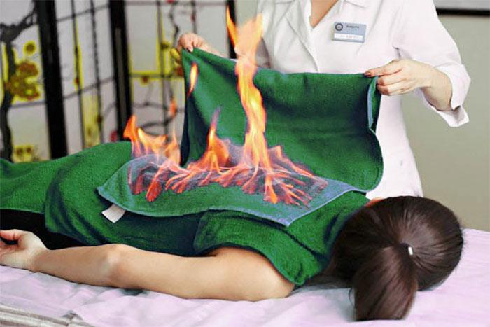Огненный массаж в салоне