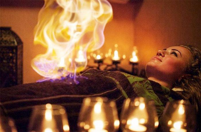 Процедура огненного массажа