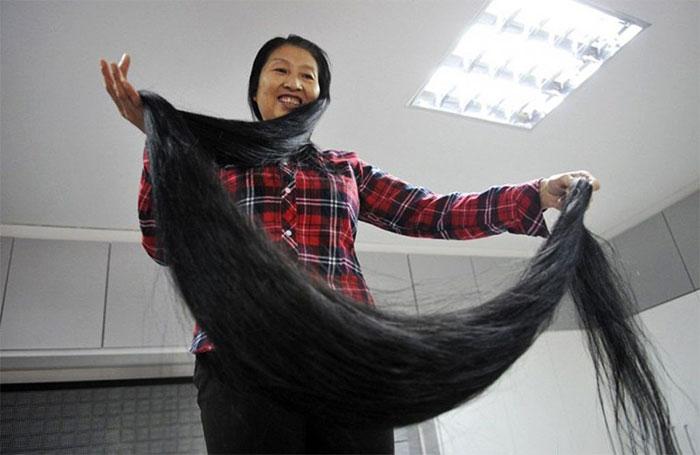Самые длинные в мире волосы