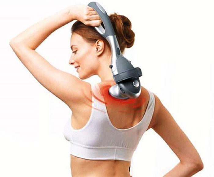 Использование массажера для спины