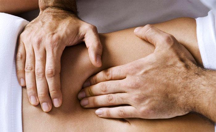 Рефлекторный массаж передней брюшной стенки и внутренних органов