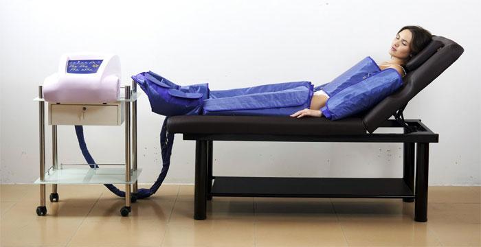 Сеанс прессотерапии на аппарате Beauty Instrument IV