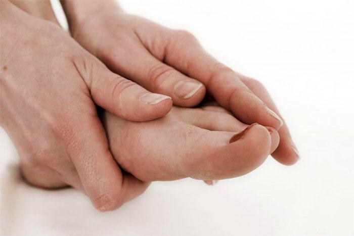 Самомассаж пальцев на ногах