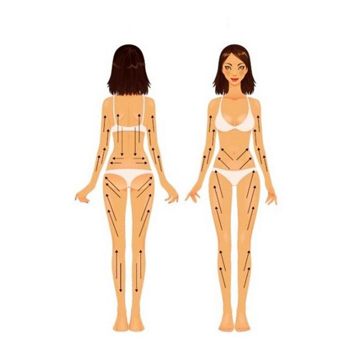 Массажные линии на теле