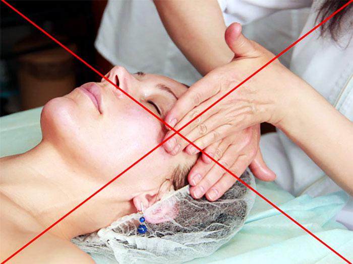 Запрет на проведение массажа